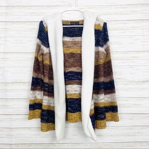 Almost Famous   Sherpa Lined Hooded Cardigan